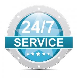 24 hour service - 7 days a week